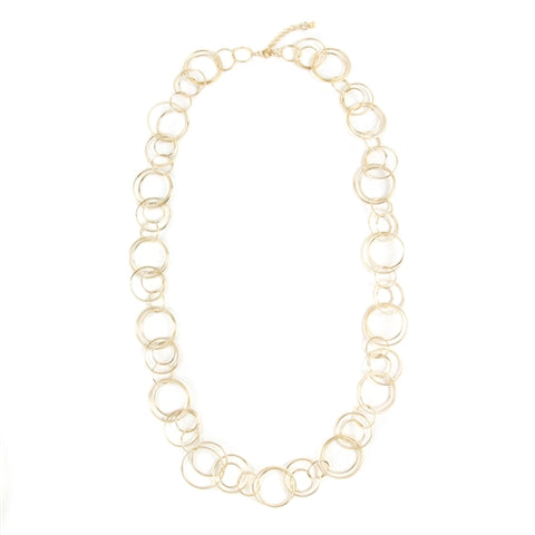 Linked Hoop Necklace