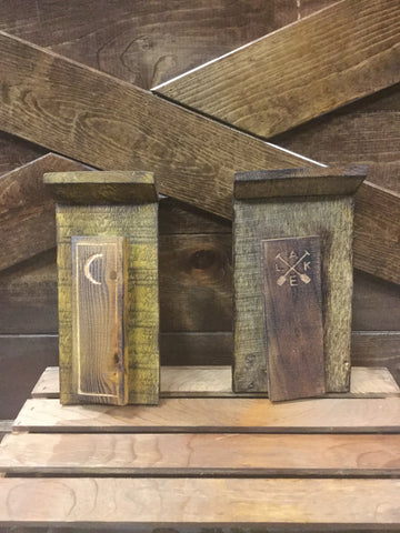 Handmade Wood Outhouse
