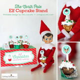 Printables for your Christmas Elf on the Shelf! Elf Returns Arrival Letter to encourage kids to donate toys, elf kissing booth and cupcake stand.