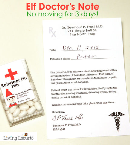 Elf Doctor's Note & Reindeer Flu Pills