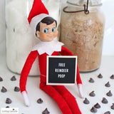 Funny Elf Letter Board Signs