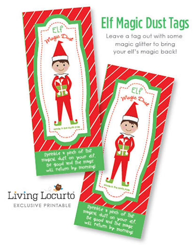 Elf Magic Dust Printable Tags