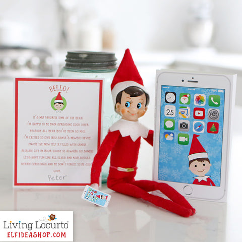 photograph about Printable Phone titled Elf Cellular phone and Introduction Letter Printable