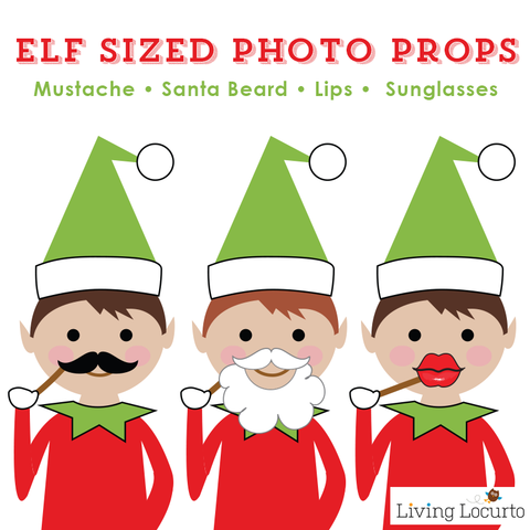 photo regarding Elf on the Shelf Printable Props identify Xmas Elf Picture Booth Props