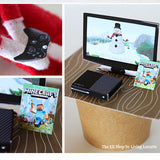 Elf XBox with Holiday Minecraft Game & Controller