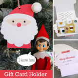 Santa Gift Card Holder - Cute Printable Gift from Elf on the Shelf