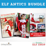 Hilarious Elf Antics Printables for the Elf on the Shelf! Elf doctor's note, North Pole Party photos and elf x-box gamer kit. Great last-minute ideas for your Christmas elf.