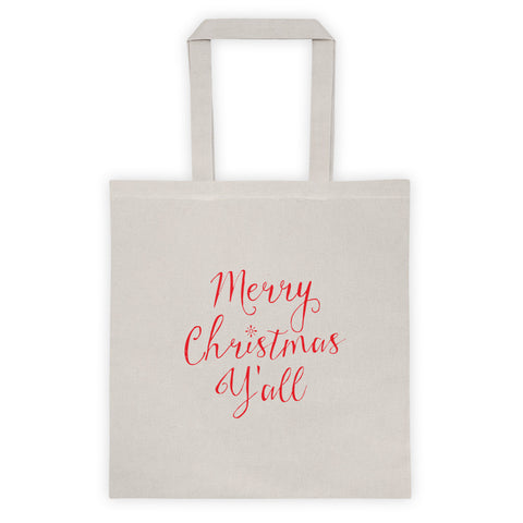 Merry Christmas Y'All Holiday Gift Tote Bag
