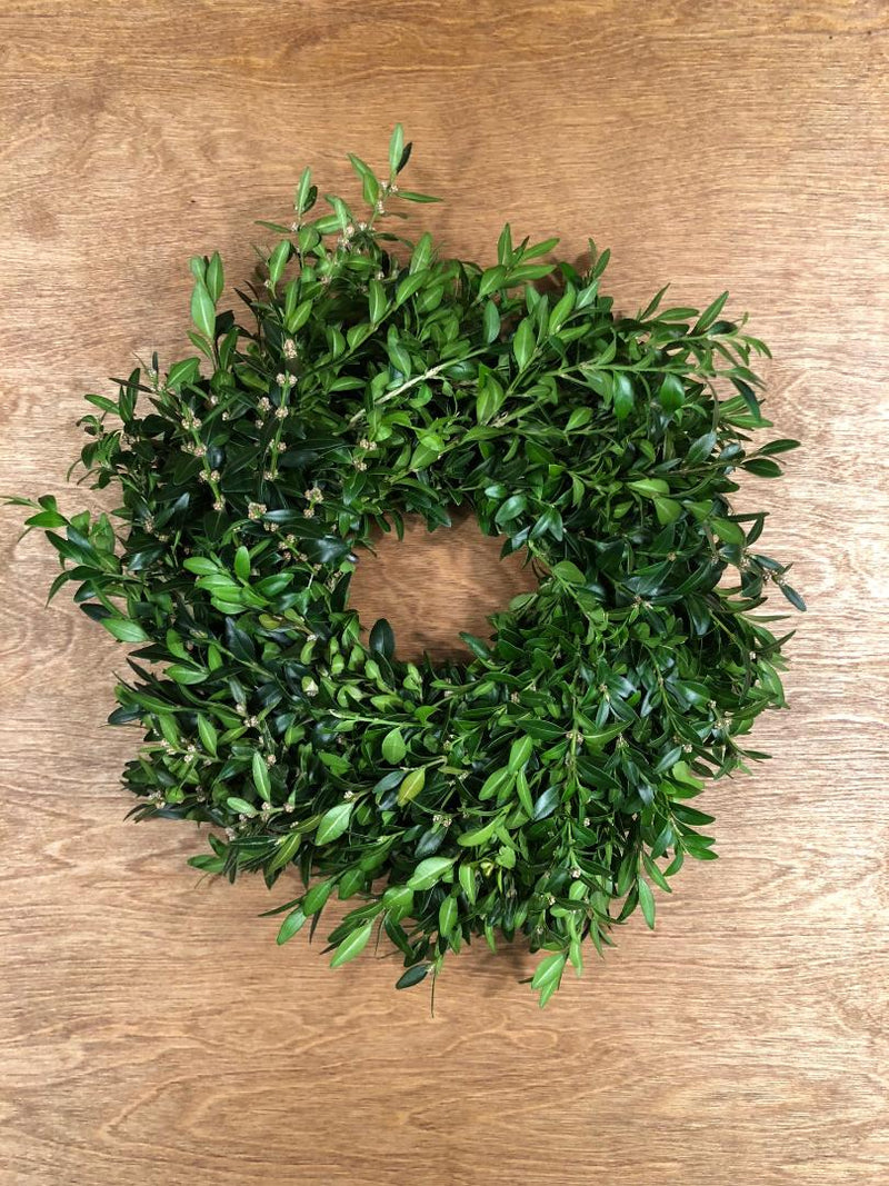 Boxwood Candle Wreaths
