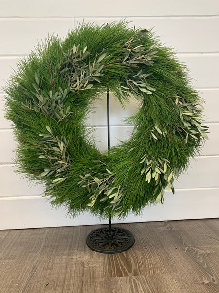 Florida Pine and Olive Accent Wreath