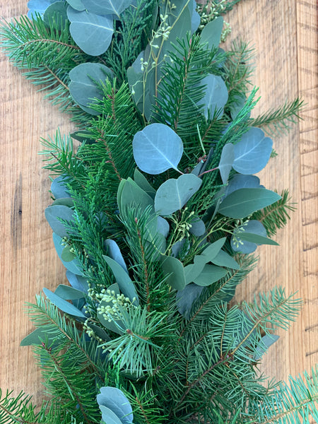 Christmas and Spring Combo. Noble Fir, Cypress, Silver Dollar Euc and Seeded Eucalyptus
