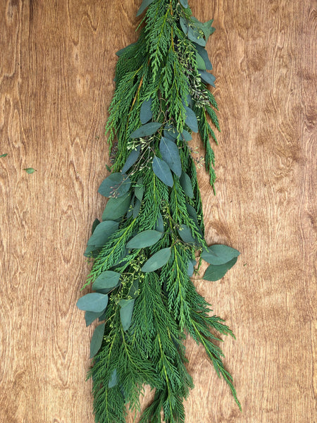 Leyland Cypress and Seeded Eucalyptus Garland