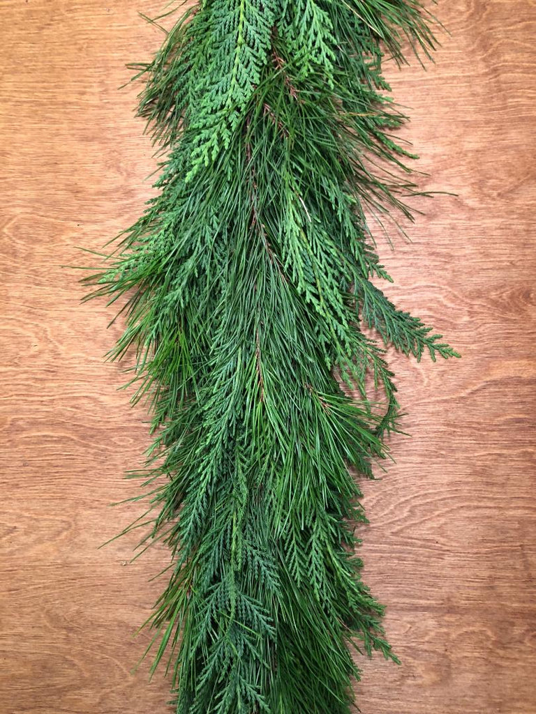Leyland Cypress and Florida Pine Garland