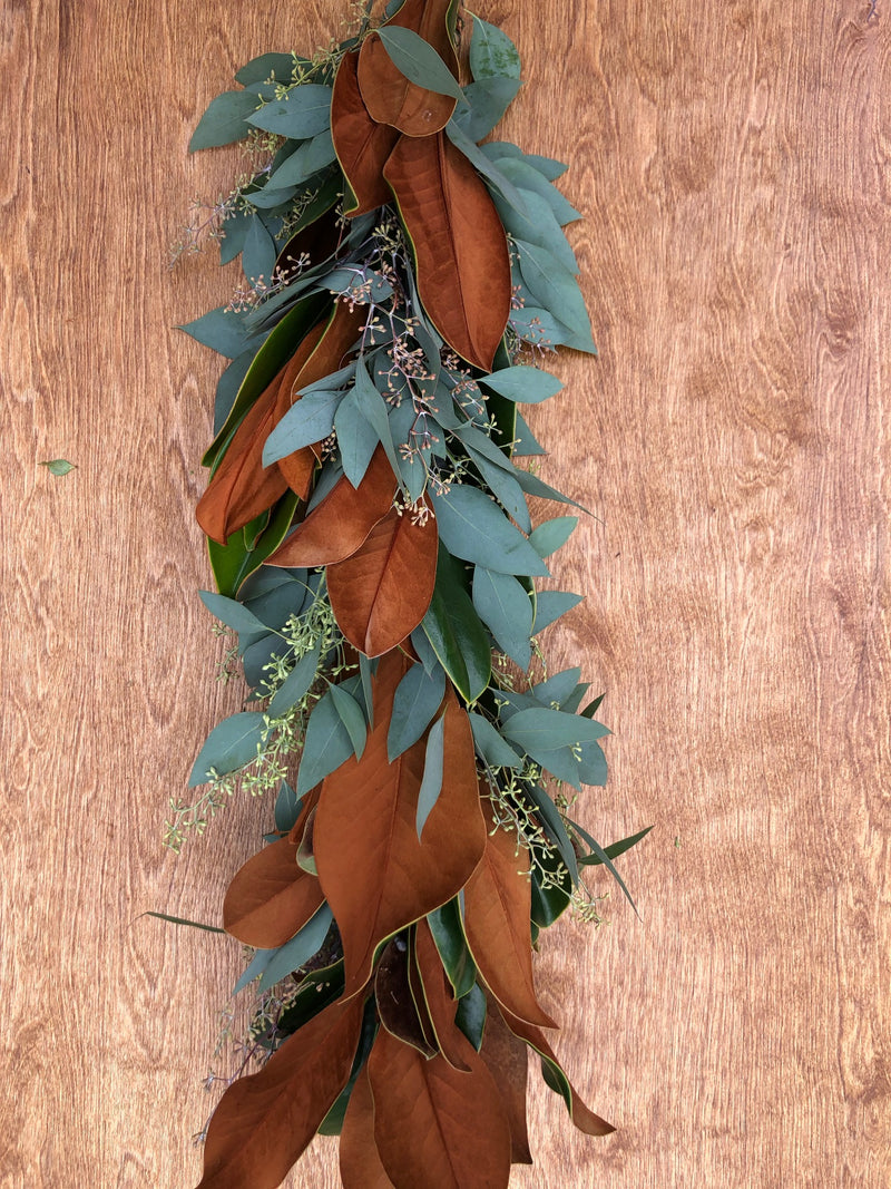 Magnolia and Seeded Eucalyptus Garland