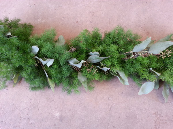 Ming Fern and Seeded Eucalyptus Garland