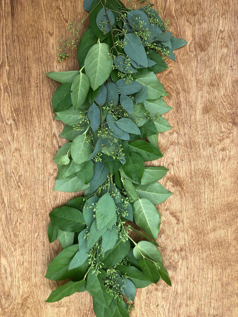 Salal and Seeded Eucalyptus Garland