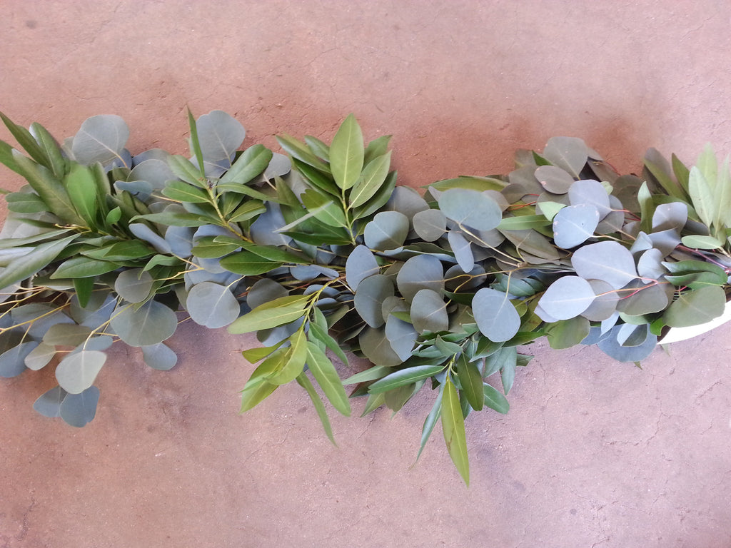 Silver Dollar Eucalyptus And Bay Leaf Garland