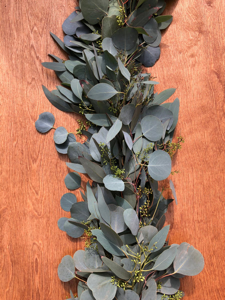 Seeded Eucalyptus and Silver Dollar Eucalyptus Garland