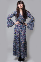 Bell sleeve maxi dress