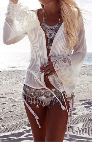 boho silver coin belt - Miss Edgy