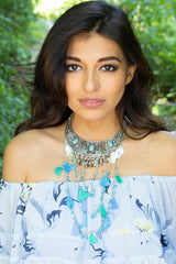 Ocean wave Statement Necklace - Miss Edgy