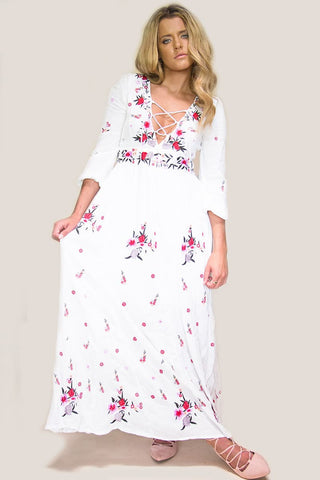 Andrea Floral Maxi Dress - Miss Edgy