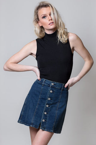 Mini denim skirt - Miss Edgy