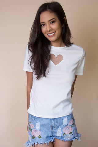 Wild Heart Shirt in White
