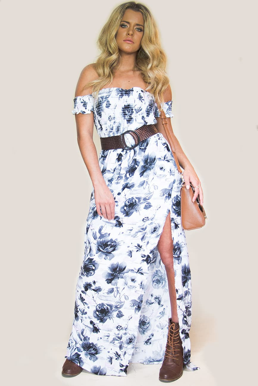 Watercolor Maxi Dress - Miss Edgy