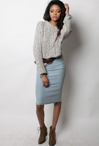 Denim Pencil Skirt - Miss Edgy