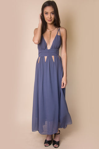 Mystery V-Neck Maxi Dress - Miss Edgy