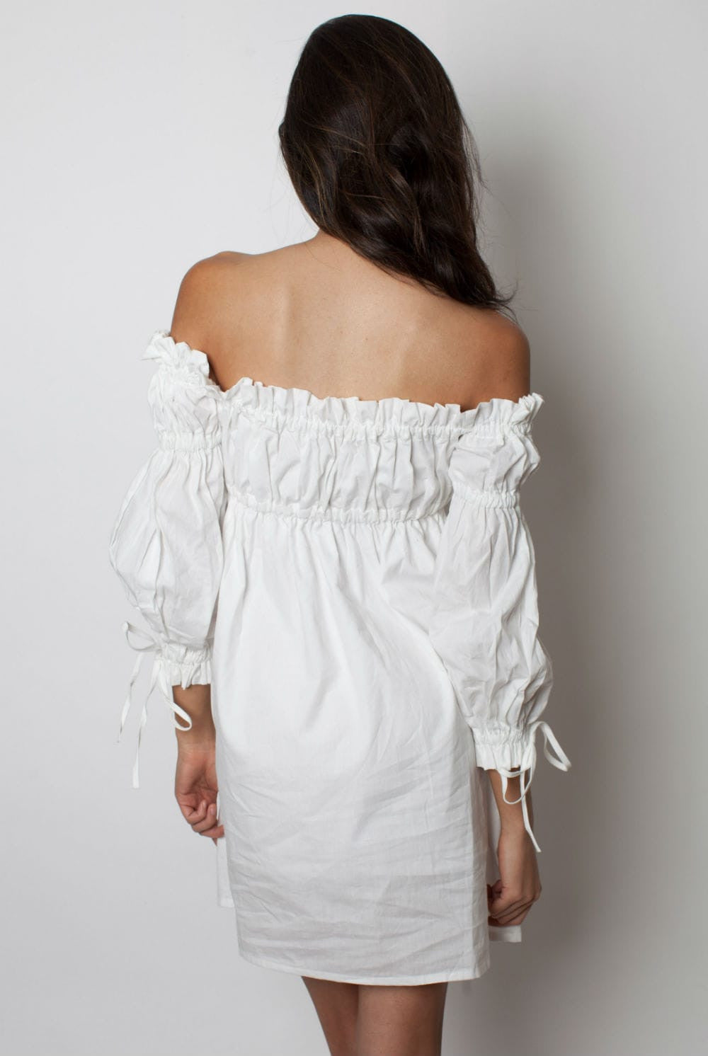 Off Shoulder White Dress