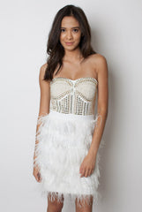 Gatsby Ostrich Feather Dress - Miss Edgy