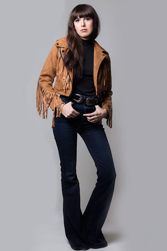 Fringe Suede Jacket - Miss Edgy