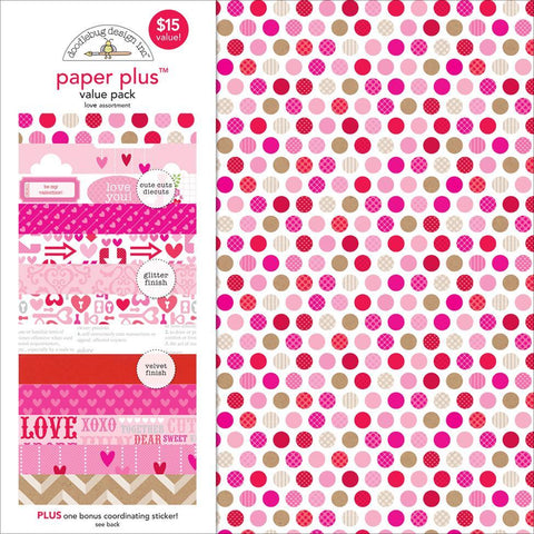 Papel y Calcomanías Love Assortment 30x30 cm - Scrapbooking Colombia