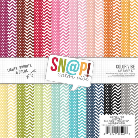 Cartulina Color Vibe doble cara 15x15 cm - Scrapbooking Colombia