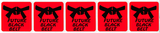 Future Black Belt Stickers