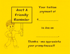 Tuition Payment Reminder Card