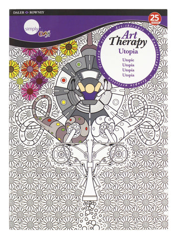 ART THERAPY COLORING BOOK UTOPIA LARGE