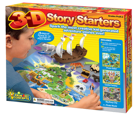 3-D STORY STARTERS SET OF 4