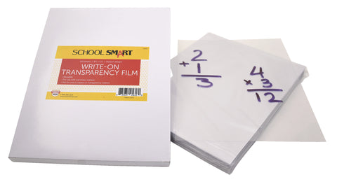 FILM WRITE-ON CLEAR HEAVY PACK OF 100 - SCHOOL SMART