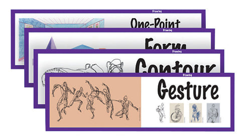 ART DISPLAY CARDS - DRAWING AND PERSPECTIVE SET OF 16