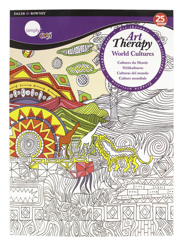 ART THERAPY COLORING BOOK WORLD CULTURES