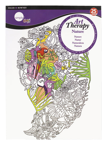 ART THERAPY COLORING BOOK NATURE