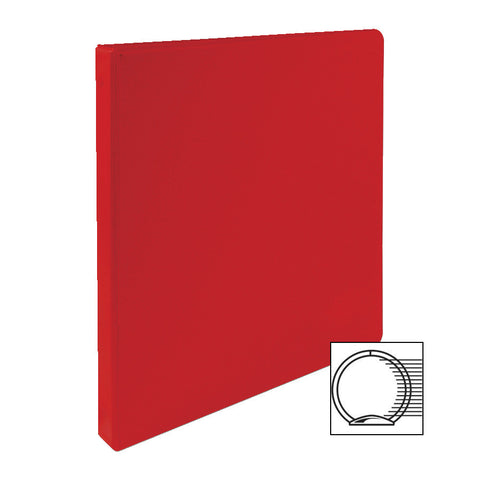 3 RING BINDER 1/2'' CAPACITY 11''X8 1/2'' RED