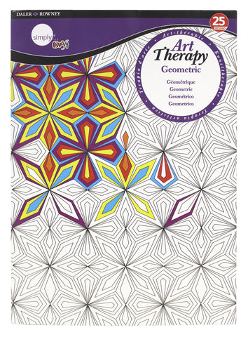 ART THERAPY COLORING BOOK GEOMETRIC LARGE