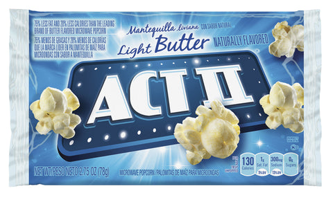 ACT II LIGHT BUTTER POPCORN CNG23243 CASE OF 36