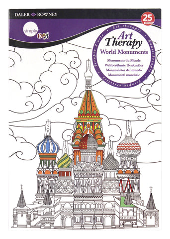 ART THERAPY COLORING BOOK WORLD MONUMENTS