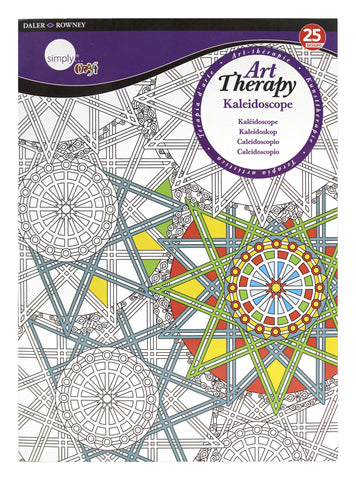 ART THERAPY COLORING BOOK KALEIDOSCOPE LARGE
