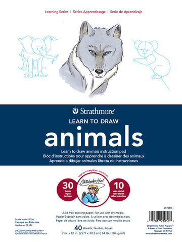 200 LEARNING SERIES DRAWING PAD ANIMALS 9X12